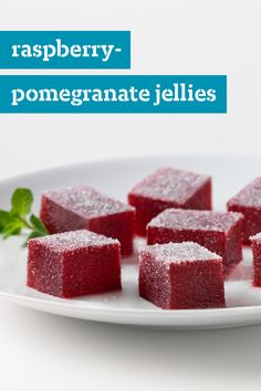 Raspberry Pomegranate Jellies – The fruity flavor of these berry sweet treats are the perfect refreshing snack to enjoy during the summer. Check out the full recipe to make this JELL-O dessert for yourself.
