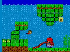 Alex Kidd on Sega Master System Many house where spent on this! it was the free game on the master system you didnt need a cartridge for as we only had one other and it was sonic.