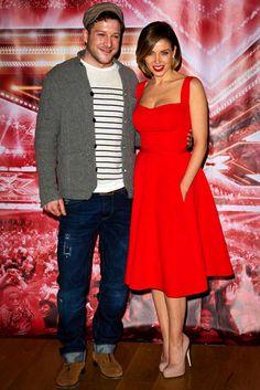 Dannii Minogue wearing Emilia Wickstead with The X Factor UK series 7 winner, Matt Cardle.