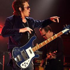 My blue Rickenbacker Bass only made one appearance with BCC at Hampton Beach casino on the summer tour 011 with #BCC  great tone  pictured with brother @joebonamassa ✌️ — with Joe Bonamassa.