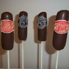 Cigar Cake Pops