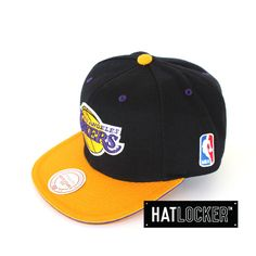 LA Lakers Tip Off Snapback by Mitchell & Ness   Find it at www.hatlocker.com #nba #lakers #snapback