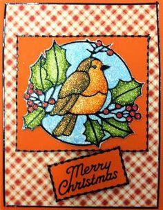Elizabeth Glitter Cards | Scrapbook Creations: Winter Birds Card using Elizabeth Crafts ...