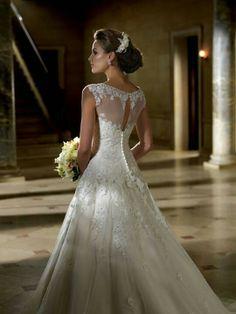 Vestido de noiva botão