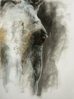 Ok que j'aimerais bien en trouver une comme celle-ci Painted Horses, Horse Wall Art, Horse Artwork, Horse Drawings, Animal Drawings, Images D'art, Watercolor Horse, Abstract Horse Painting, Guache