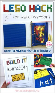 Organize ALL your building bricks and activities in a portable BUILD IT BINDER! Grab the FREE download from Samantha Henry @mrshenryinfirst