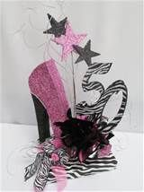 High Heeled Shoe, Zebra 50th,Birthday Centerpiece | Designs by Ginny