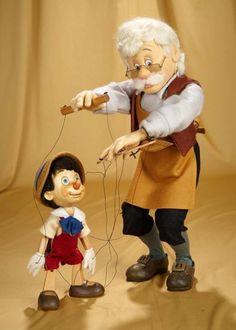 Disney Toys, Disney Fun, Disney Cartoons, Classic Cartoon Characters, Classic Cartoons, Thanksgiving Cartoon, Wooden Puppet, John Wright, Marionette
