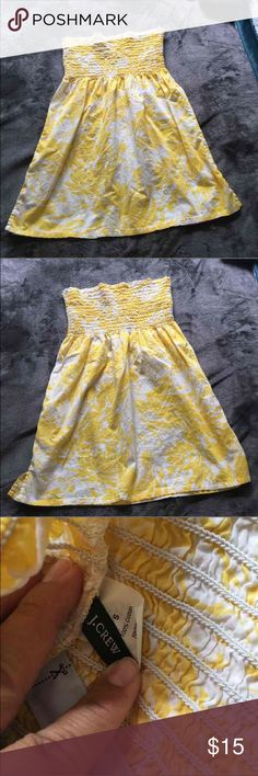 J.crew top/dress Very good condition tube top/dress. size Small. Yellow and white  it can be worn as a dress or top 24 in from top to bottom J. Crew Dresses Strapless