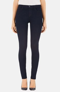 J Brand 'Maria' High Rise Skinny Jeans (Lapis) at Nordstrom.com. A dark matte wash and svelte high-waisted frame add sleek vintage appeal to these cleanly styled skinny jeans.