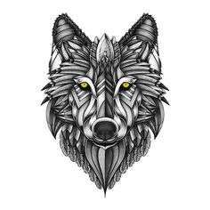ornate, art, artwork, drawing, draw, illustrator, illustration, photoshop, design, psydrian, paint, painting, patterns, mandala, doodles, abstract, wolf, animal, nature, black and white, tattoo, • Also buy this artwork on wall prints, apparel, stickers y more.