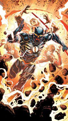 """The Flash as Black Racer Comic - Justice League Artwork by & Flash Characters, Comic Book Characters, Comic Character, Comic Books Art, Comic Art, Arte Dc Comics, Flash Comics, Marvel Comics, Illustration Comic"