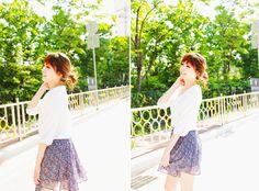 #korean fashion #skirt