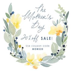 Happy Monday to you! Gift a loved one this Mother's Day with 20% off your order of $20 or more! Just use code MOMS20 during checkout on Etsy or our website (link in profile). Offer ends 5/10, end of day! #happymothersday