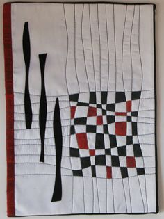Black, white & red quilt idea