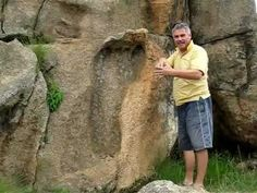 Giant footprint. Near Swaziland border