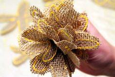 How To Make a Burlap Flower Bouquet | SnugasaBugBaby