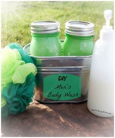 DIY Men's Body Wash that is simple, and convenient. Not only smells great, but saves TONS of money too!