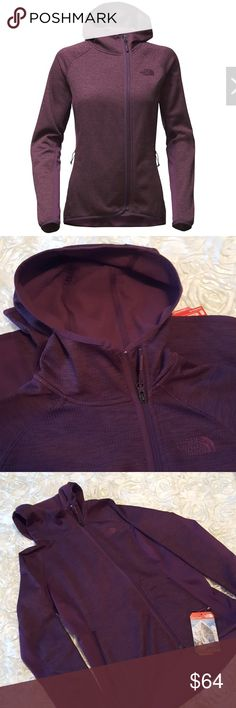 🗻*FLASH SALE*The North Face Arcata fleece hoodie NWT The North Face Arcata fleece. The color of this really cute hoodie is Blackberry Wine Heather. It has an asymettrical zip,and is very smooth and soft. Please see description above for more details! I ship same day or next day! **FLASH SALE PRICE IS FIRM!** The North Face Tops Sweatshirts & Hoodies