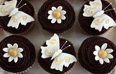 White & Gold Wedding Cupcakes by ConsumedbyCake, via Flickr