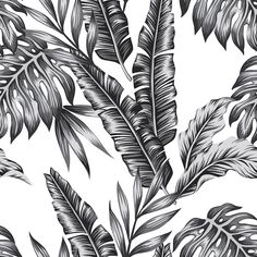 Retro Palms   Removable Wallpaper   WallsNeedLove