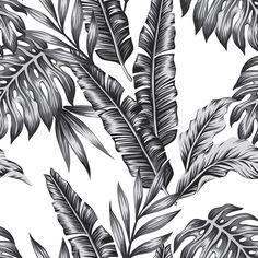 Retro Palms | Removable Wallpaper | WallsNeedLove