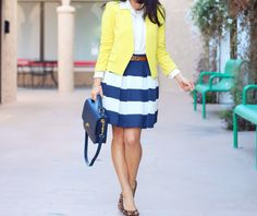 Leopard, stripes and yellow