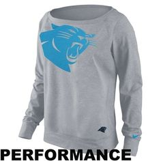 Nike Carolina Panthers Ladies Wildcard Epic Crew Sweatshirt - Gray Carolina  Panthers Sweatshirt d8739c0f8ef8
