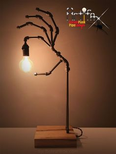 Pipe Lighting, Lighting Design, Club Lighting, Lighting Ideas, Lampe Steampunk, Steampunk Makeup, Steampunk Drawing, Steampunk Costume, Steampunk Gadgets