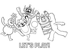 yo gabba gabba coloring pages 3