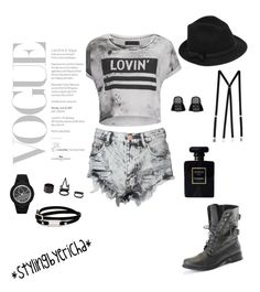 """Untitled #6"" by erichavicky on Polyvore featuring Glamorous, Religion Clothing, American Apparel, McQ by Alexander McQueen, adidas Originals, Charlotte Russe, RED Valentino and Chanel"