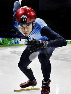 Apolo Ohno -- I have watched his entire Olympic career, and now he commentates for NBC's coverage of short track! Still watching (hearing) his career. Us Olympics, Winter Olympics, Ice Skating, Figure Skating, Apolo Ohno, Speed Skates, Sport Hall, Olympic Athletes, Olympic Champion