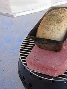Baking bread on the grill...and other great tips on how to feed your family if you don't have power. Now, just need to figure out how to log into Pinterest when we have no power...