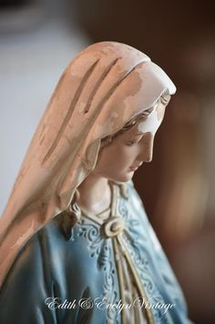 Lg Vintage Miraculous Mary Statue Virgin Mary by edithandevelyn on Etsy