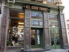 All Good Things | New York City - ain't it a wonderful name for a shop?