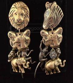 La Contessa Mary DeMarko Safari Animal Earrings