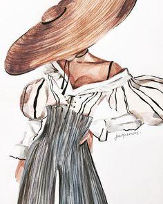 rovence🌿 jacquemus ms_art marinasidneva_art marinasidneva art # - - in 2020 Illustration Inspiration, Illustration Mode, Fashion Illustration Sketches, Sketch Inspiration, Fashion Sketches, Dress Sketches, Art Illustrations, Fashion Design Illustrations, Fashion Inspiration