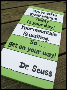 Dr. Suess Quote Set custom nursery classroom wall by BlissfulBrush