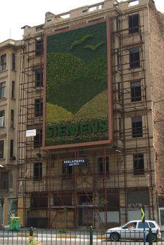 Urban-Flora: Muurtuin Billboard in Istanbul.