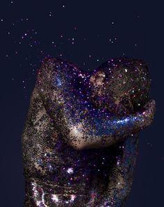 glitter shower