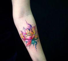 Акварельные татуировки | 245 фотографий