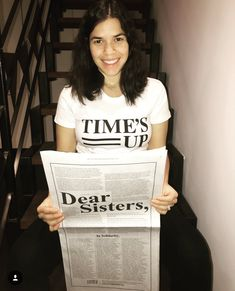 #TIMESUP my Dear Sisters, reSisters, perSisters! Stand with women across every industry in saying: #TIMESUP. The @TIMESUPNW Legal Defense Fund prov