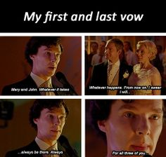my first and last vow gifset - sherlock series 3 episode 2 the sign of three Sherlock Mary, Sherlock Series 3, Sherlock Holmes Bbc, Sherlock Fandom, Sherlock Quotes, His Last Vow, I Dont Have Friends, Sherlolly, 3 Three
