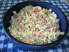 My family loves salads.  You will love this one and it makes a wonderful addition to any meal, picnic, or potluck. 2 cups uncooked macaroni1/2 cup chopped onion1 cup chopped celery1 carrot, shredde...