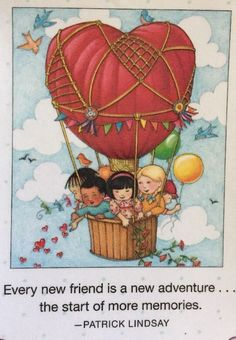 Every New Friend- Handmade Fridge Magnet -Mary Engelbreit Artwork