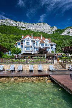 Restaurant Yoann Conte La maison Bleue Au bord du Lac d'Annecy... Cuisine at it's finest!!! #francetrip