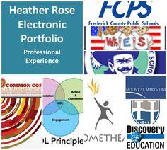 Electronic Portfolio example:  Heather Rose: Professional Experiences - ThingLink