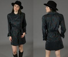 Vintage 1980's Double Breasted Tie Waist Trench by SeamlessVintage, $37.00