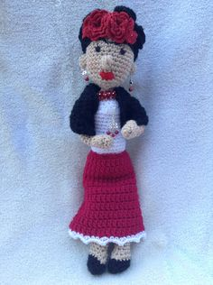 Frida Kahlo inspired doll I made to sell.