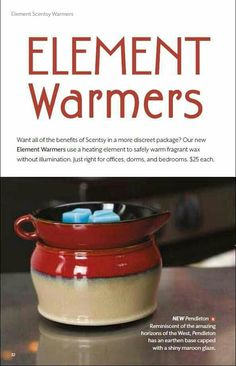 Element Warmers, All the Scent but no light! Perfect for the bedroom https://normaj.scentsy.us/Scentsy/Buy/Category/1152